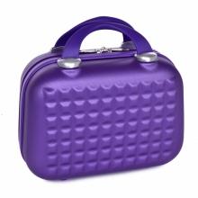 Metalic purple príručný kufor malý